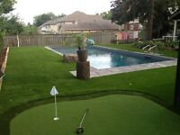 Professionally Installed Putting Greens, artificial turf