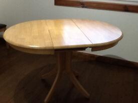 Hudson Round Natural Oak Extending Dining Table
