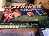 Striker football game 1970s RARE!