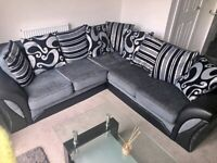 CLEARANCE SALE 50% ON BRAND NEW SHANNON BLACK AND GREY COUCH IS AVAILABLE BOOK YOU ORDER