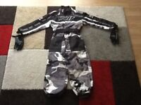 Wulf Motorcycle suit for 4-6yr old child as new with wulf gloves