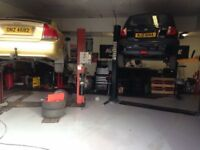Car mechanic garage with rent or equipment on its own for sale