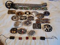 Collection of country and western belt buckles