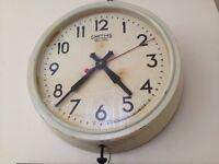 genuine 1940 bakelite post office clock,large.