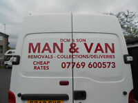 MAN & BIG VAN/SHORT NOTICE/FULL N PART REMOVALS/SINGLE ITEMS MOVED/RUBBISH REMOVALS/ALL AREAS