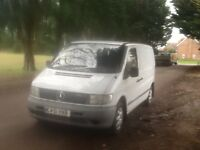 MERCEDES VITO 110 CDTI TWIN S/L. DOORS 3 SEATER CAB IDEAL MOTOR CYCLE CARRIER CLEAN COND. TOWBAR