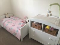 Cot Bed, Changing Unit and Wardrobe