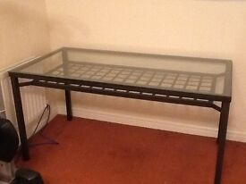 IKEA Glass top Dinning room table (used)