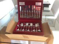 Viners 58 piece cutlery set,still in the box never used.