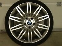 19INCH5/120 BMW SPIDER REPLICA ALLOY WHEELS WITH WIDER REAR RIMS AND TYRES,FRONTS8.5/19REARS 9.5/19
