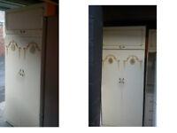 ORNATE BEDROOM FURNITURE 2 X 2 DOUBLE WARDROBES CENTRE DRESSING UNIT DRAWS HEADBOARD SEE BELOW