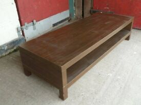 Large Brown Long Low Coffee Table Delivery Available
