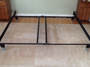King size metal bed frame and matching box spring