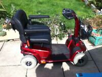 PRIDE CELEBRITY X 4 MID SIZE MOBILITY SCOOTER HARDLY USED