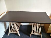 ikea table top black brown