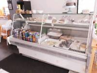 Shop cafe serve over display fridge