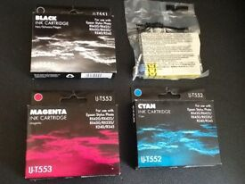 New unopened set of ink cartridges for Epson printer