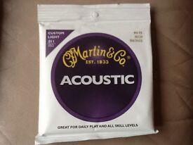 Martin & Co Acoustic Guitar Strings - New Unopened Packs