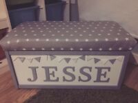 Bespoke wooden toy boxes