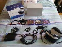 Playstation VR Unit - CAMERA HEADSET + 3 GAMES