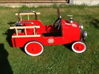 Vintage pedal fire engine