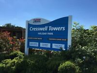 Great Starter Caravan At Cresswell Towers Northumberland All Fees Included 5 Star Park HURRY NOW!
