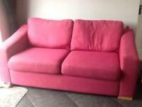 3 seater pink sofa