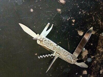 +RARE+ VINTAGE OLD CARL SCHLIEPER EYE BRAND SOLINGEN PEWTER POCKET KNIFE +RARE+