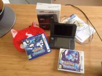 BNIB NEW 3DS XL with Pokemon games and Yo-Kai case - NEVER USED