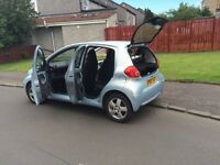 Urgent! Toyota Aygo (sport edition), 5dr, perfect condition, 2nd owner (women), no smoking.