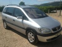 VAUXHALL ZAFIRA 1.8 PETROL ELEGANCE 5 DOOR 7 SEATER MANUAL SILVER X PLATE WITH 100K AND 8 MONTHS MOT