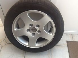 Audi A6 aluminium wheel and tyre