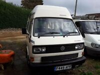 VW T25 TURBO DIESEL CAMPERVAN, with POWER STEERING