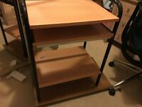 Wheeled Computer desk
