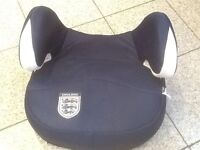 Car booster seat for 25kg upto 36kg(8yrs to 12yrs)-has 3 LIONs ENGLAND logo on it
