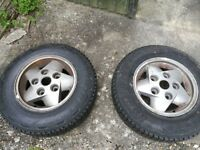 2x Land Rover 4x4 tyres Brand New