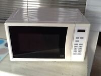 Cook works white digital microwave for sale