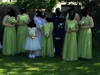 Beautiful green bridesmaid dresses