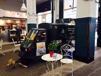 Coffee van Piaggio Ape 50cc