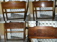 Vintage Edwardian/Regency/Art Deco Mahogany/Walnut Wooden Single Bed Sprung Base with FREE Mattress.