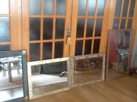 Wall mirrors of various sizes- all used and in very good condition-from £10 to £30each