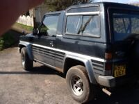Daihatsu fourtrak spares or repairs