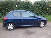 Peugeot 206 1.4HDI 2006 blue