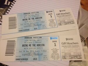 2 X Bring Me The Horizon tickets Dulwich Hill Marrickville Area Preview
