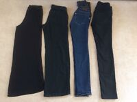 Maternity trousers x4 size 8