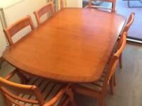 Nathan extending dining table and six chairs