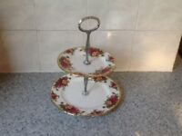 Royal Albert cake stand 2 tier