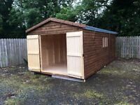 20x10 wooden shed