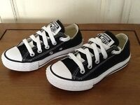 Kids Converse All Star Trainers Black UK Size 10