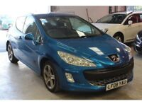 2008 PEUGEOT 308 1.6 HDI 110 3 DOOR SPORT(17 ALLOYS CRUISE CONTROL AIR CON)FINANCE AVAILABLE CHEAP